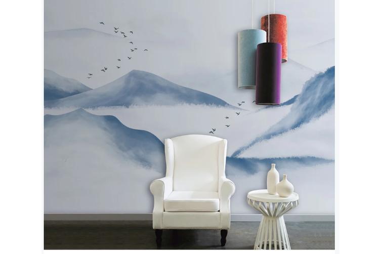 3D chinese ink landscape wall mural Wallpaper 118 Premium Non-Woven Paper-W: 525cm X H: 295cm