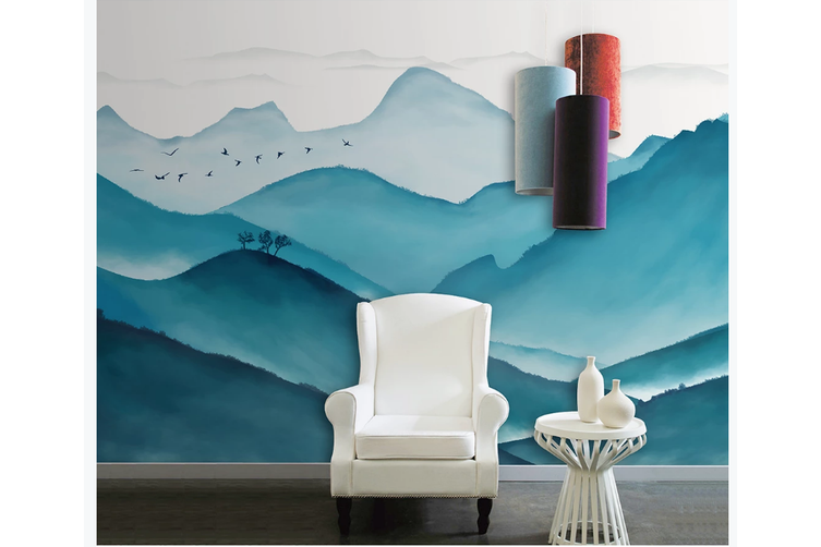 3D chinese ink landscape wall mural Wallpaper 117 Premium Non-Woven Paper-W: 210cm X H: 146cm
