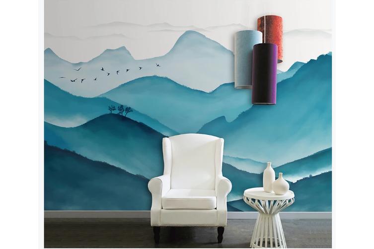 3D chinese ink landscape wall mural Wallpaper 117 Premium Non-Woven Paper-W: 525cm X H: 295cm
