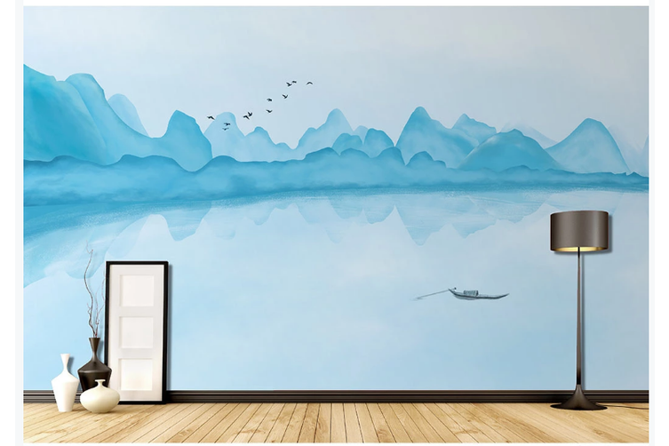 3D chinese ink landscape wall mural Wallpaper 116 Premium Non-Woven Paper-W: 420cm X H: 260cm