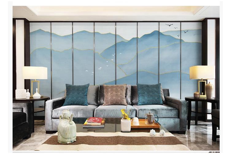 3D chinese ink landscape wall mural Wallpaper 114 Premium Non-Woven Paper-W: 320cm X H: 225cm