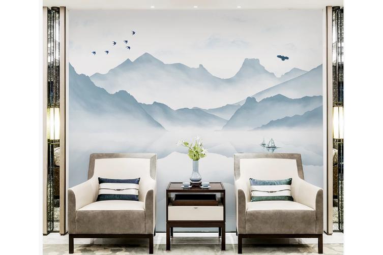 3D chinese ink landscape wall mural Wallpaper 113 Premium Non-Woven Paper-W: 525cm X H: 295cm