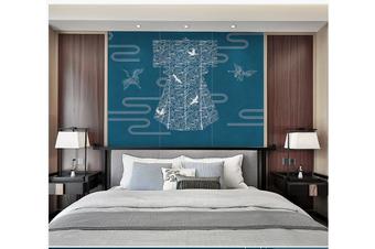 3D chinese crane clouds wall mural Wallpaper 111 Premium Non-Woven Paper-W: 420cm X H: 260cm
