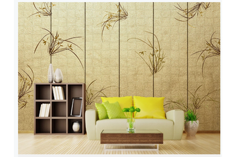 3D hand painting orchid wall mural Wallpaper 109 Premium Non-Woven Paper-W: 320cm X H: 225cm