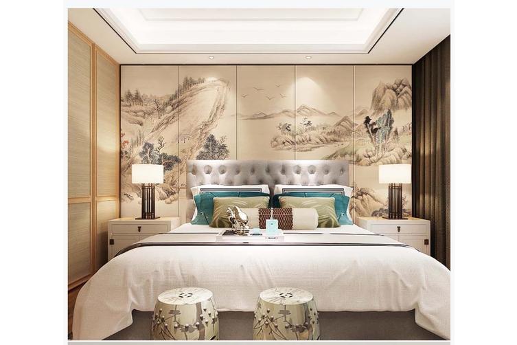3D chinese ink landscape wall mural Wallpaper 108 Premium Non-Woven Paper-W: 210cm X H: 146cm