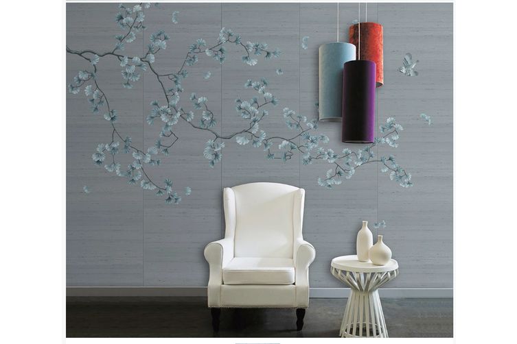 3D hand painting ginkgo leaves wall mural Wallpaper 107 Premium Non-Woven Paper-W: 320cm X H: 225cm
