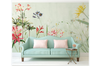 3D hand painting red floral wall mural Wallpaper 106 Premium Non-Woven Paper-W: 420cm X H: 260cm