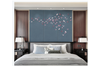 3D pink butterfly grey background wall mural Wallpaper 105 Premium Non-Woven Paper-W: 420cm X H: 260cm