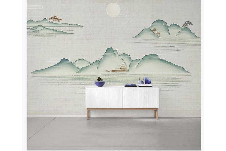 3D chinese ink landscape wall mural Wallpaper 104 Premium Non-Woven Paper-W: 210cm X H: 146cm
