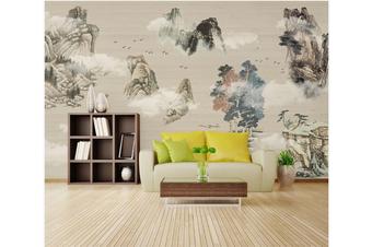 3D chinese ink landscape wall mural Wallpaper 102 Premium Non-Woven Paper-W: 210cm X H: 146cm