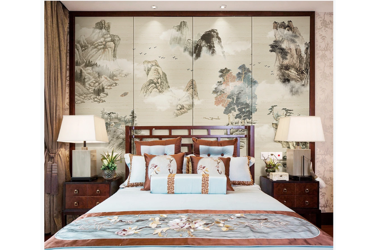 3D chinese ink landscape wall mural Wallpaper 102 Premium Non-Woven Paper-W: 420cm X H: 260cm