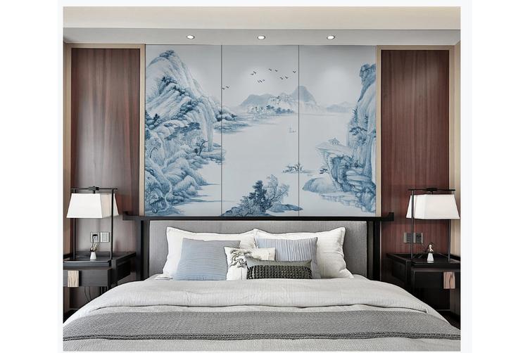3D chinese ink landscape wall mural Wallpaper 101 Premium Non-Woven Paper-W: 420cm X H: 260cm