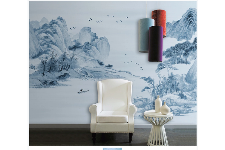 3D chinese ink landscape wall mural Wallpaper 100 Premium Non-Woven Paper-W: 320cm X H: 225cm