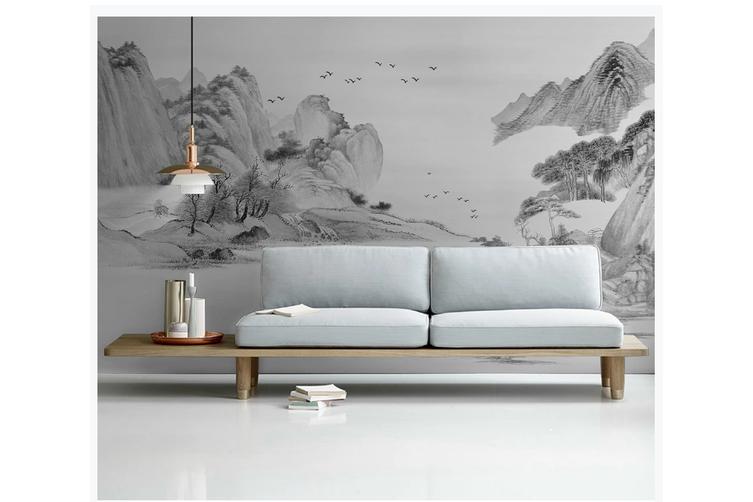 3D chinese ink landscape wall mural Wallpaper 100 Premium Non-Woven Paper-W: 525cm X H: 295cm