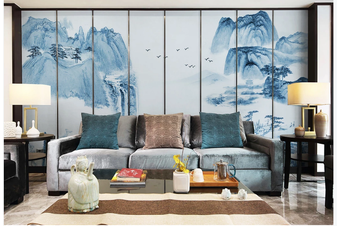3D chinese ink landscape wall mural Wallpaper 98 Premium Non-Woven Paper-W: 420cm X H: 260cm