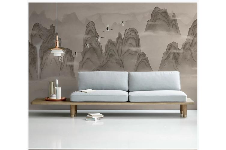 3D chinese ink landscape wall mural Wallpaper 94 Premium Non-Woven Paper-W: 210cm X H: 146cm