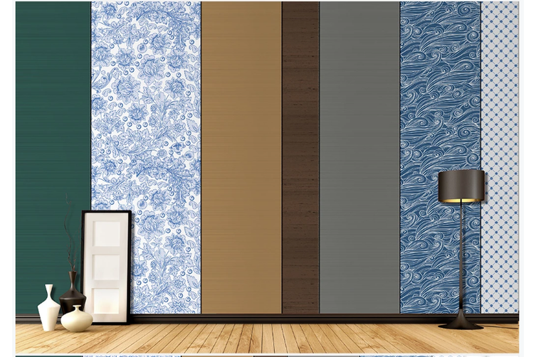 3D blue floral sea waves pattern wall mural Wallpaper 92 Premium Non-Woven Paper-W: 420cm X H: 260cm
