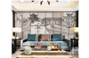 3D hand painting retro chinese building wall mural Wallpaper 89 Premium Non-Woven Paper-W: 210cm X H: 146cm