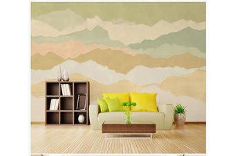 3D abstract colorful mountain wall mural Wallpaper 86 Premium Non-Woven Paper-W: 210cm X H: 146cm