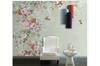 3D retro pink floral wall mural Wallpaper 83 Premium Non-Woven Paper-W: 420cm X H: 260cm