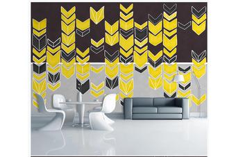 3D yellow arrow sign wall mural Wallpaper 79 Premium Non-Woven Paper-W: 420cm X H: 260cm