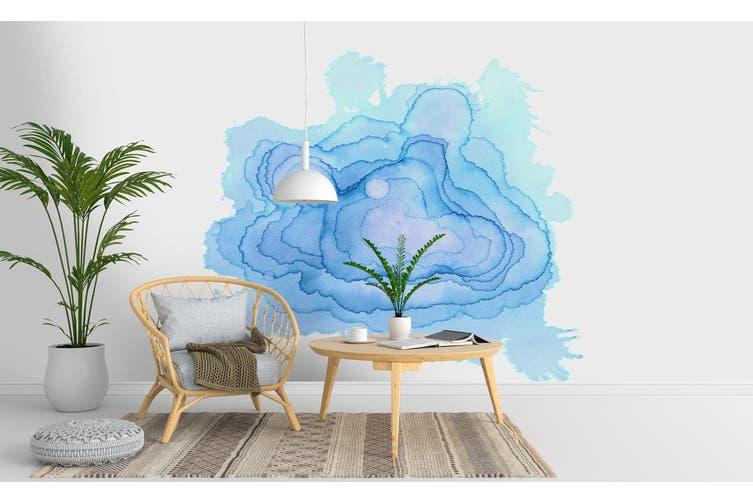 3D Watercolor Blue Pattern Wall Mural Wallpaper 236 Premium Non-Woven Paper-W: 210cm X H: 146cm