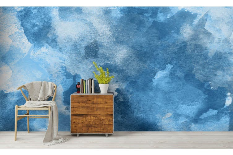 3D Watercolor Blue Pattern Wall Mural Wallpaper 235 Premium Non-Woven Paper-W: 210cm X H: 146cm