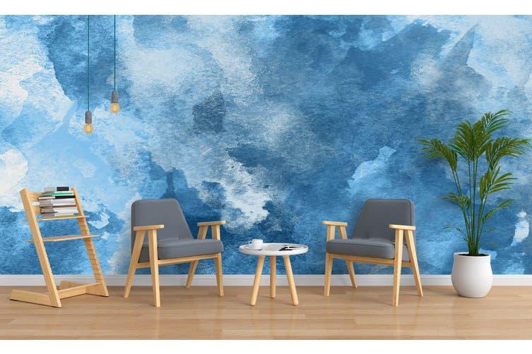 3D Watercolor Blue Pattern Wall Mural Wallpaper 235 Premium Non-Woven Paper-W: 420cm X H: 260cm