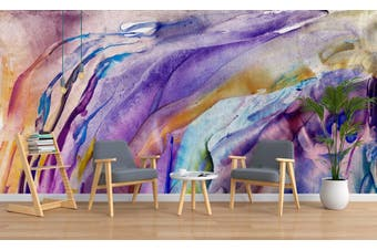 3D Watercolor Abstract Purple Pattern Wall Mural Wallpaper 232 Premium Non-Woven Paper-W: 210cm X H: 146cm