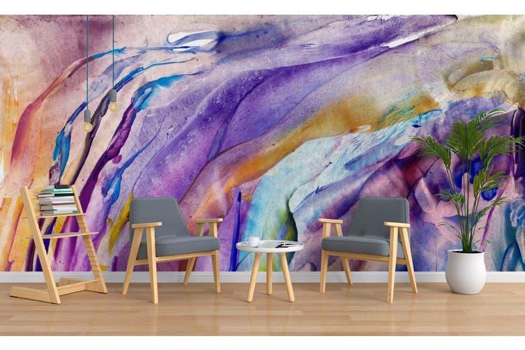 3D Watercolor Abstract Purple Pattern Wall Mural Wallpaper 232 Premium Non-Woven Paper-W: 320cm X H: 225cm