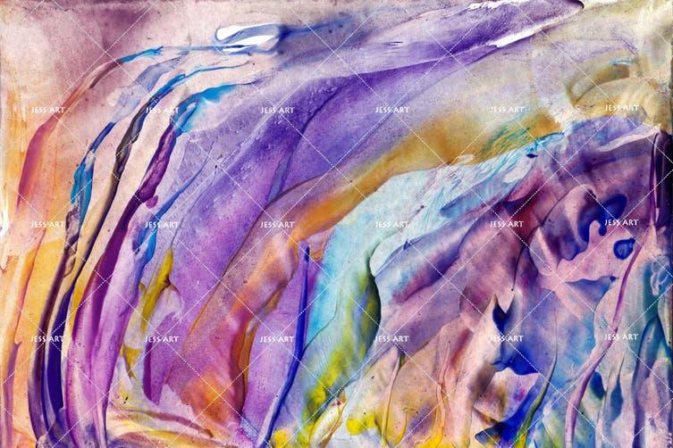 3D Watercolor Abstract Purple Pattern Wall Mural Wallpaper 232 Premium Non-Woven Paper-W: 525cm X H: 295cm
