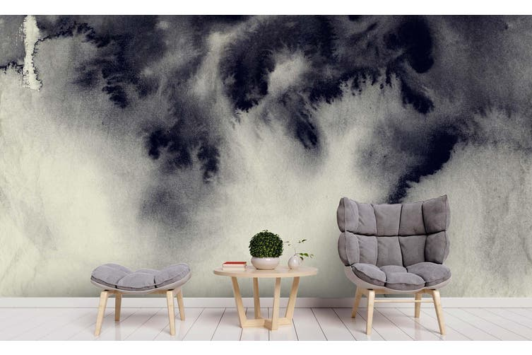 3D Watercolor Abstract Grey Wall Mural Wallpaper 230 Premium Non-Woven Paper-W: 525cm X H: 295cm