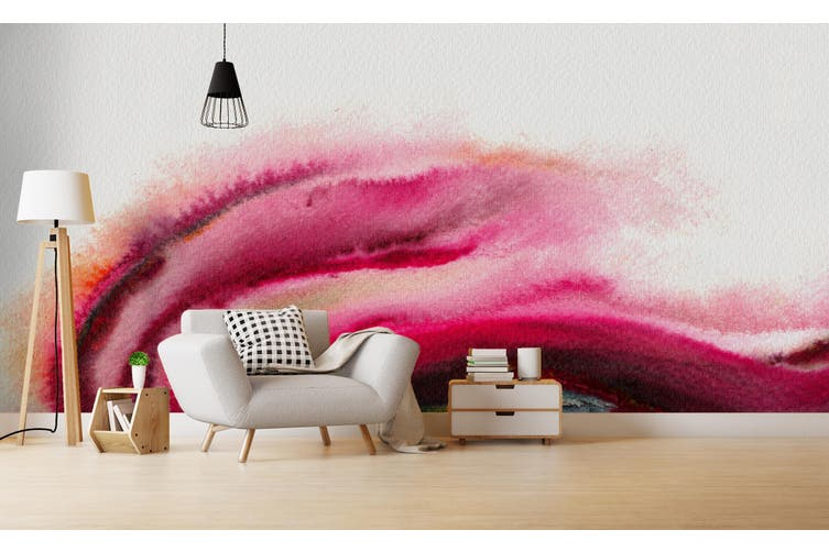 3D Watercolor Abstract Pink Wall Mural Wallpaper 229 Premium Non-Woven Paper-W: 210cm X H: 146cm