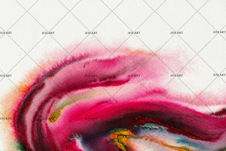 3D Watercolor Abstract Pink Wall Mural Wallpaper 229 Premium Non-Woven Paper-W: 320cm X H: 225cm