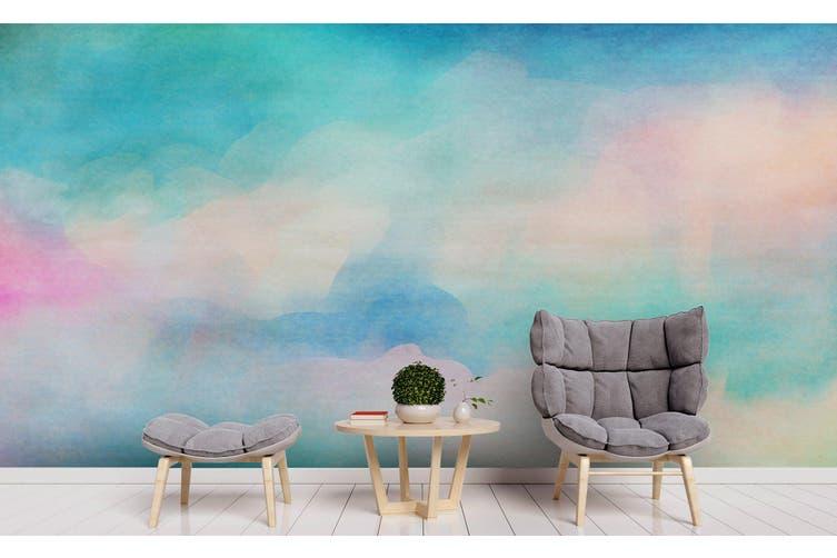 3D Watercolor Green Pattern Wall Mural Wallpaper 236 Premium Non-Woven Paper-W: 210cm X H: 146cm