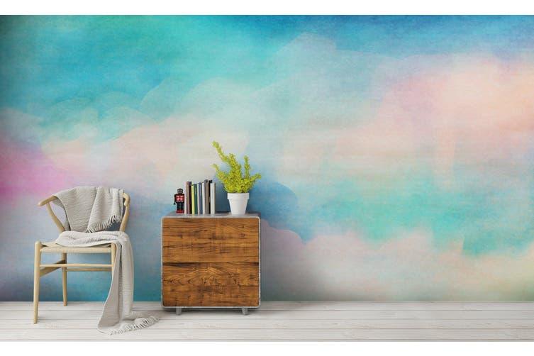 3D Watercolor Green Pattern Wall Mural Wallpaper 236 Premium Non-Woven Paper-W: 320cm X H: 225cm