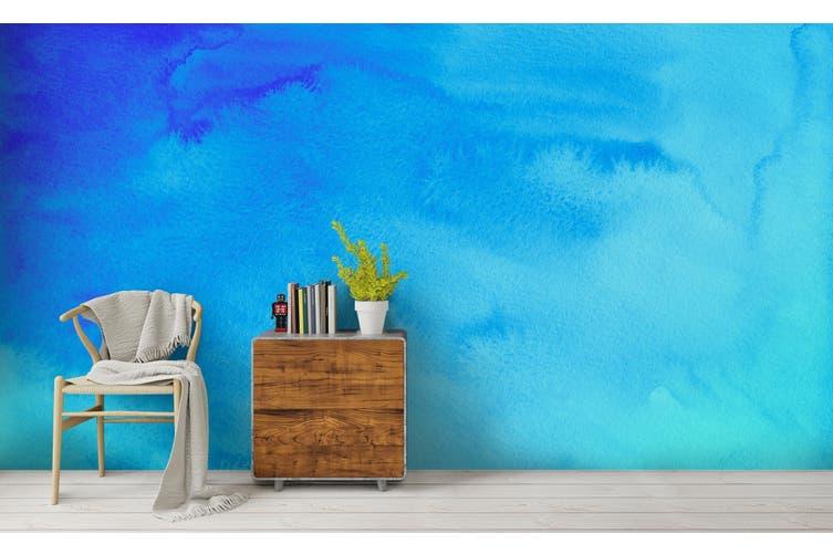 3D Watercolor Blue Pattern Wall Mural Wallpaper 226 Premium Non-Woven Paper-W: 320cm X H: 225cm