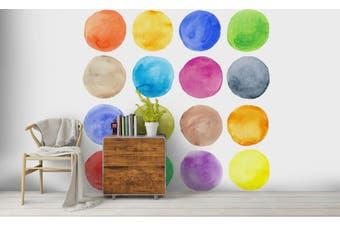 3D Watercolor Dot Pattern Wall Mural Wallpaper 224 Premium Non-Woven Paper-W: 210cm X H: 146cm