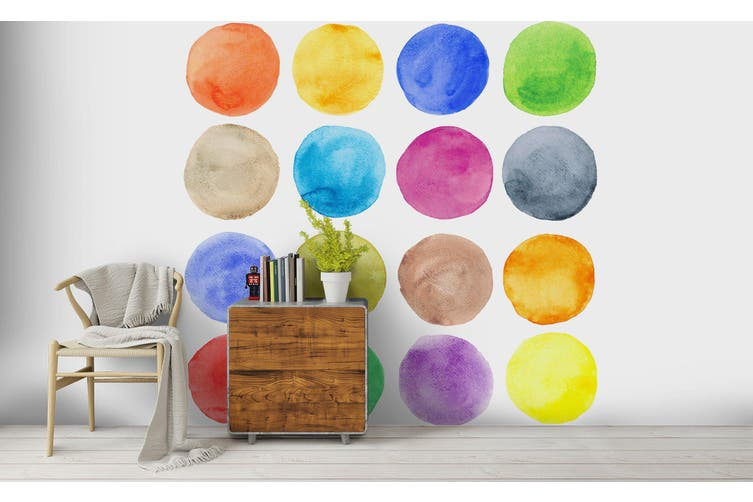 3D Watercolor Dot Pattern Wall Mural Wallpaper 224 Premium Non-Woven Paper-W: 420cm X H: 260cm