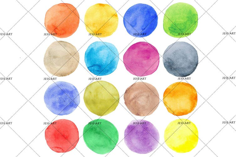 3D Watercolor Dot Pattern Wall Mural Wallpaper 224 Premium Non-Woven Paper-W: 525cm X H: 295cm