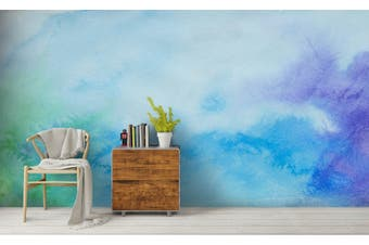 3D Watercolor Green Pattern Wall Mural Wallpaper 223 Premium Non-Woven Paper-W: 320cm X H: 225cm