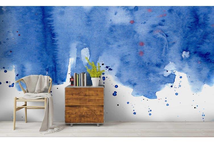 3D Watercolor Blue Pattern Wall Mural Wallpaper 222 Premium Non-Woven Paper-W: 210cm X H: 146cm