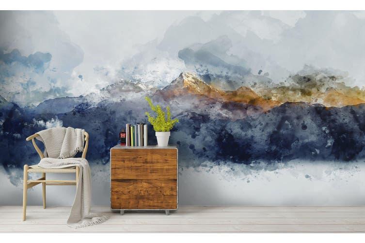 3D Watercolor Mountains Wall Mural Wallpaper 220 Premium Non-Woven Paper-W: 210cm X H: 146cm