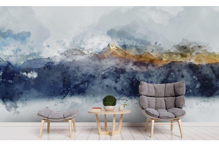 3D Watercolor Mountains Wall Mural Wallpaper 220 Premium Non-Woven Paper-W: 525cm X H: 295cm