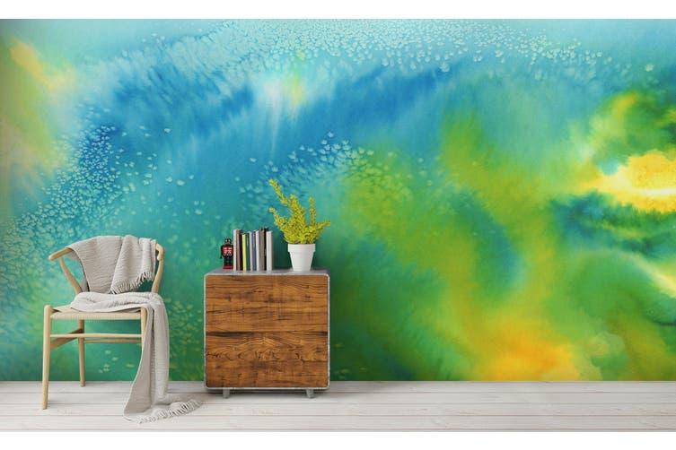 3D Watercolor Green Pattern Wall Mural Wallpaper 219 Premium Non-Woven Paper-W: 525cm X H: 295cm