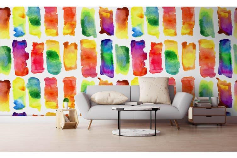 3D Watercolor Color Pattern Wall Mural Wallpaper 218 Premium Non-Woven Paper-W: 320cm X H: 225cm