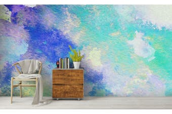3D Watercolor Green Pattern Wall Mural Wallpaper 217 Premium Non-Woven Paper-W: 210cm X H: 146cm