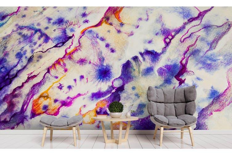 3D Watercolor Purple Abstract Pattern Wall Mural Wallpaper 216 Premium Non-Woven Paper-W: 210cm X H: 146cm