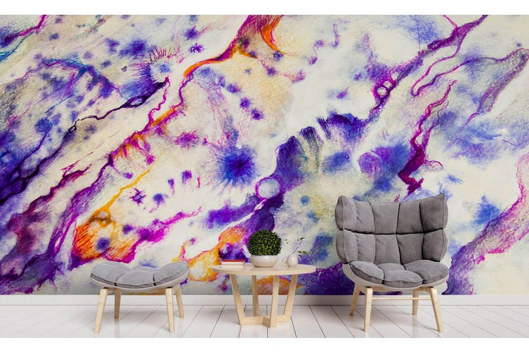 3D Watercolor Purple Abstract Pattern Wall Mural Wallpaper 216 Premium Non-Woven Paper-W: 420cm X H: 260cm