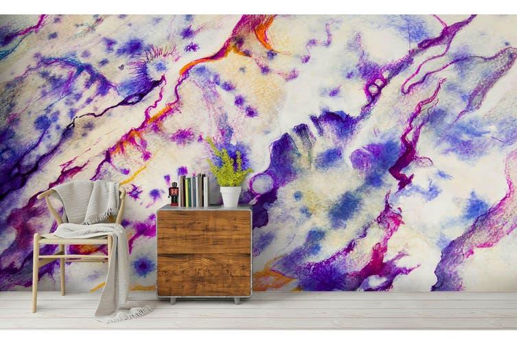 3D Watercolor Purple Abstract Pattern Wall Mural Wallpaper 216 Premium Non-Woven Paper-W: 525cm X H: 295cm